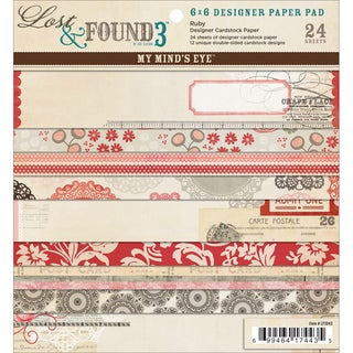 Lost & Found 3 Ruby Designer Paper Pad 6