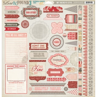 Lost & Found 3 Ruby Chipboard Accessories 12