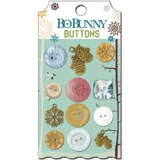Snow Day Buttons & Embellishments 12/Pkg-