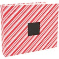 "American Crafts Patterned 3-Ring Album 12""X12""-Candy Stripe"