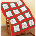 "Themed Stamped White Quilt Blocks 9""X9"" 12/Pkg-Christmas Time"
