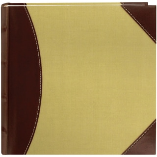 "2-Up High Capacity 8""X8"" Photo Album 300 Pocket-Brown/Beige"