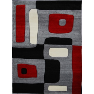 New Waves Grey Geometric Rug