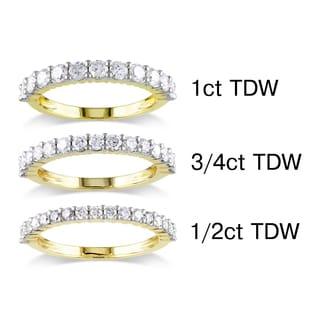 Miadora 14k Yellow Gold 1/2 to 1ct TDW Certified Diamond Wedding Band (G-H, I1-I2)