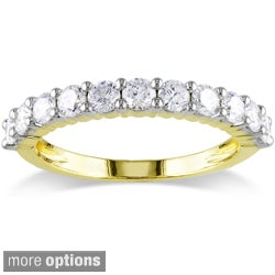 Miadora 14k Yellow Gold 1/2 to 1ct TDW Certified Diamond Wedding Band (G-H, I1-I2)