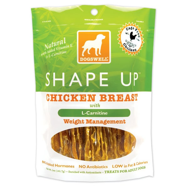Dogswell Shape Up Chicken Jerky (Five ounces)