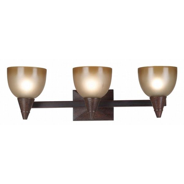 Stoughton 3-light Wood Vanity