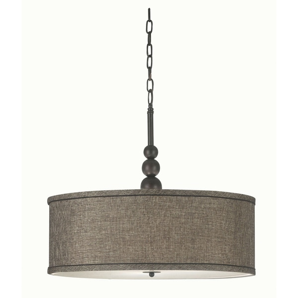 Design Craft Stewart 3-light Bronze Pendant