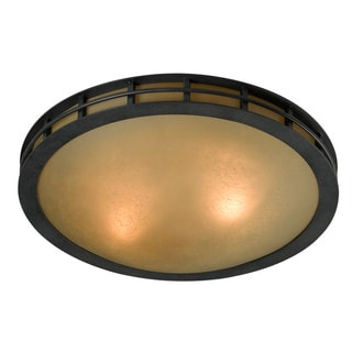 Perry 2-light Graphite Flush Mount