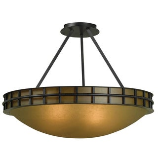 Perry 2-light Graphite Semi Flush Mount