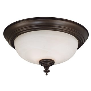 Padula 2-light Bronze Flush Mount