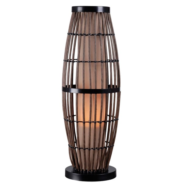 lavinta wood indoor outdoor table lamp 15006596 shopping great deals on. Black Bedroom Furniture Sets. Home Design Ideas