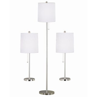 Morgana Steel Floor/ Table Lamps (Set of 3)