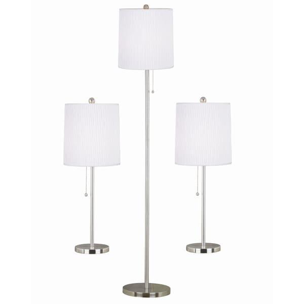 Morgana Steel Floor/ Table Lamps (Set of 3)