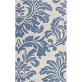 Hand-tufted Kutahya Slate Blue Wool Rug (5' x 8')