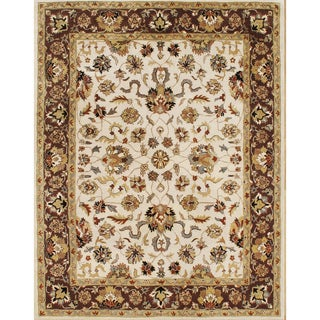 Alliyah Rugs Vanilla Wool Rug (10' x 14')