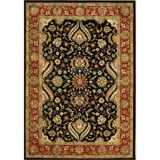 Alliyah Rugs Black New Zealand Wool Rug (10'x14')
