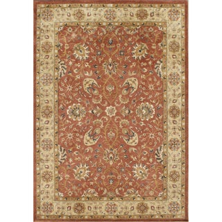 TajMahal By Alliyah Hand Made Rust 100% New Zeeland Blend Wool Rug 10x14