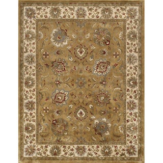 Alliyah Rugs Green Wool Rug (10 x 14)