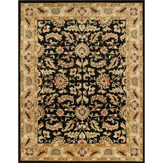 Alliyah Handmade Rugs Black 100 Percent New Zealand Wool Rug (10' x 14')