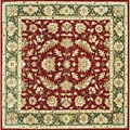 Alliyah Handmade Burgundy New Zealand Blend Wool Rug (10' Square)