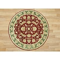Alliyah Rugs Burgundy New Zealand Wool Rug (10' Round)