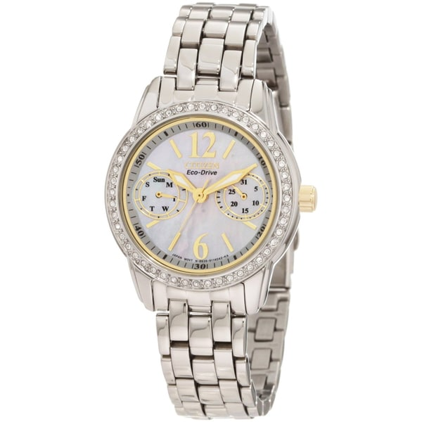 Citizen Women's Steel Eco-Drive Silhouette Crystal Watch
