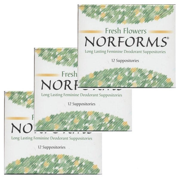 Norforms Long Lasting 12-pack Deodorant Suppositories (Pack of 3)