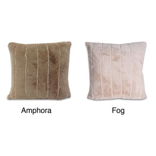 Thro 18X18 'Patricia' Pearl Accented Faux Fur Pillow