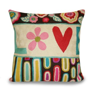Marlo Lorenz 16 x 16 Retro 'Love' Throw Pillow
