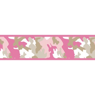Sweet JoJo Designs Pink Camo Army Wall Paper Border