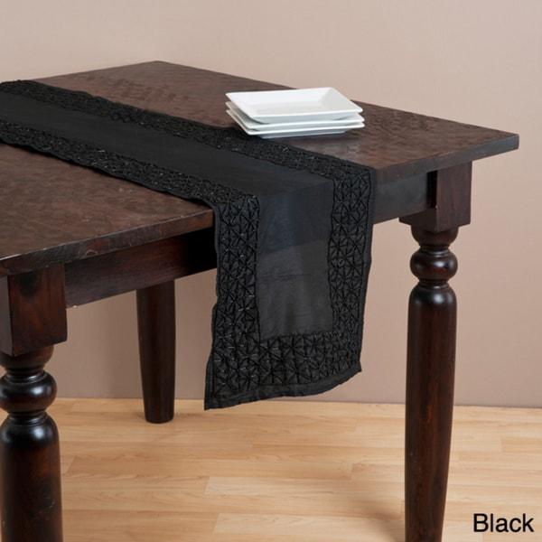 Hand-beaded Table Runner or Topper