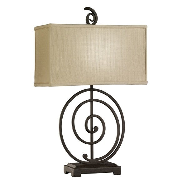 Transitional 1-light Iron Swirl Table Lamp