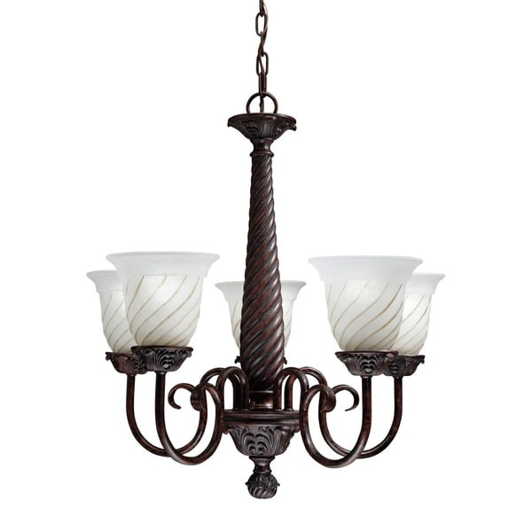 Transitional 5-light Carravagio Bronze Chandelier