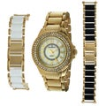 Peugeot Women's Goldtone Steel Interchangeable Bracelet Watch