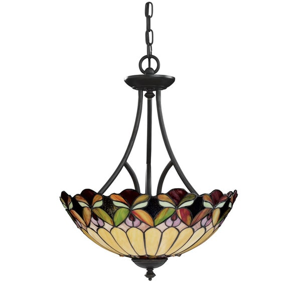 Tiffany style 3-light Bronze Pendant Light Fixture