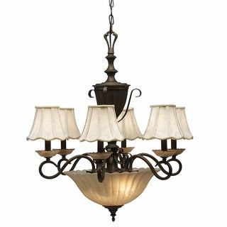 Traditional 8-light Vintage Bronze Chandelier