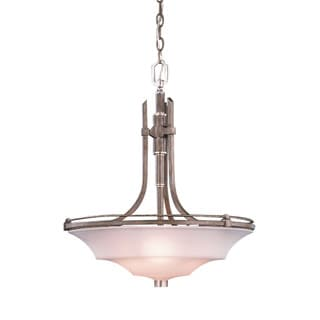 Transitional 3-light Tuscan Gold Pendant Light Fixture