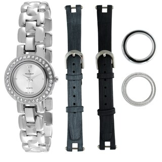 Peugeot Women's Steel Interchangeable Bezel and Strap Watch Set