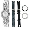 Peugeot Women&#39;s Steel Interchangeable Bezel and Strap Watch Set