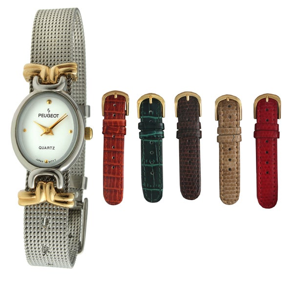 Peugeot Women's Stainless Steel Interchangeable Strap Watch