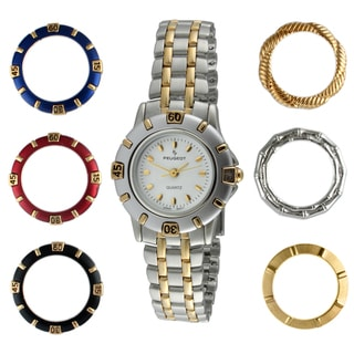 Peugeot Women's Two-tone Interchangeable Bezel Watch