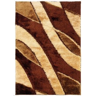 Shadow Magic Cafe Latte Stirred Area Rug (7'10 x 11'2)
