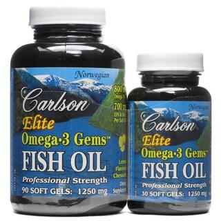 Carlson Elite Omega-3 Gems Fish Oil 1250 mg (120 Softgels)