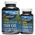Carlson Elite Omega-3 Gems Fish Oil 1250 mg (120 Softgels)