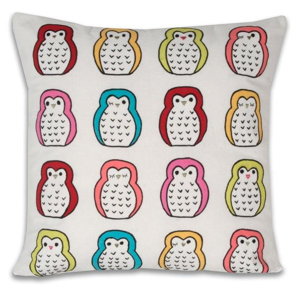 Marlo Lorenz Hoot Owls Multi Decorative Pillow