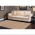 Hand-tufted Eksjo Bronze Wool Rug (5' x 8')