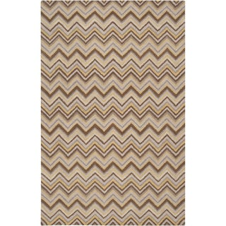 Hand-tufted Eksjo Bronze Wool Rug (3'3 x 5'3)