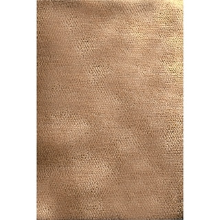 Hand-woven Borlange Bronze Plush Shag New Zealand Wool Rug (8' x 10'6)