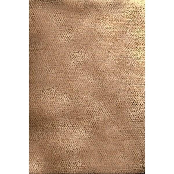 Hand-woven Borlange Bronze Plush Shag New Zealand Wool Rug (8' x 10'6)
